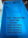 Bak Fiber Sekat Filter Internal